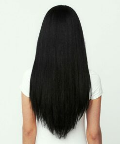 Jet Black Clip In Hair Extension 3