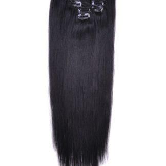 Jet Black Clip In hair Extension 2
