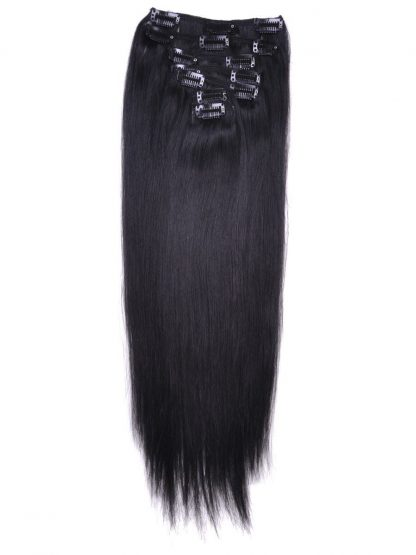 Jet Black Clip In hair Extension 2