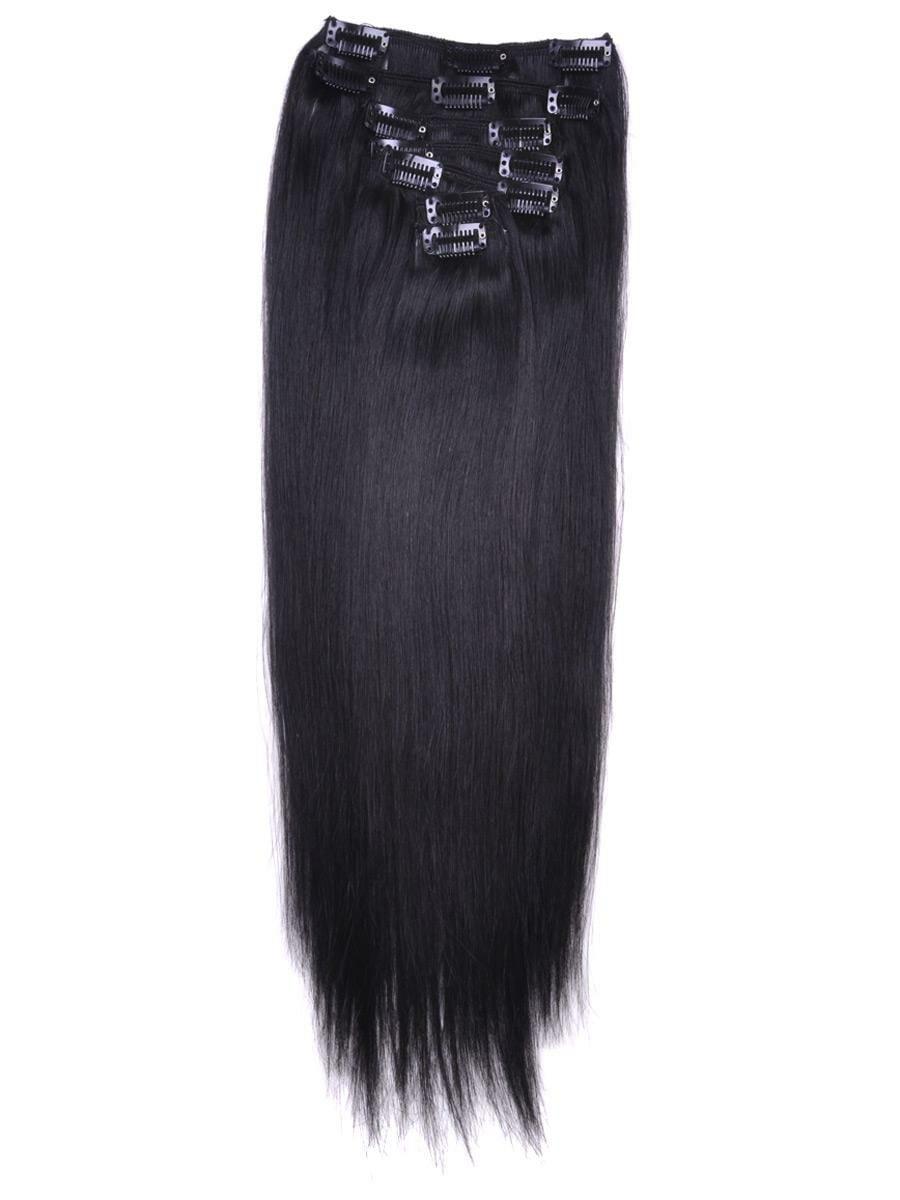 Clip In Hair Extensions Jet Black 120gram Full Headnexa Hair