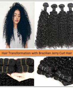 Brazilian Jerry Curl Hair Bundles 1
