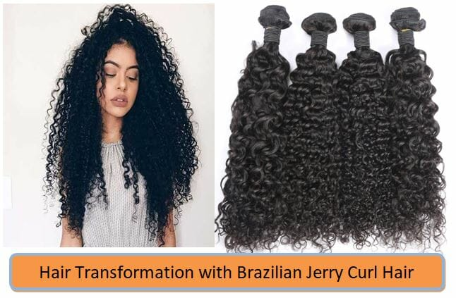 Brazilian Jerry Curl Hair Bundles