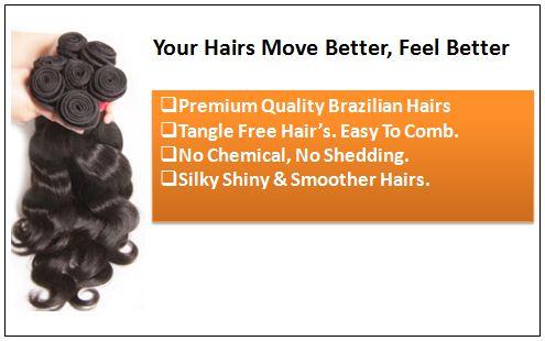 Brazilian Body Wave 3 pcs Human Hair Extension pic 1
