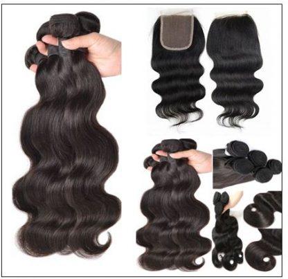 Brazilian Body Wave Hair 3 Bundles With Closure img 2