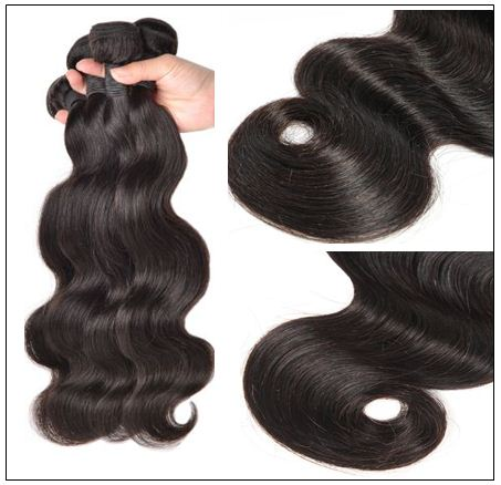 Brazilian Body Wave Hair 3 Bundles With Closure img 3