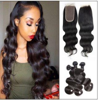 Brazilian body wave hair 3 bundles with closure img 1