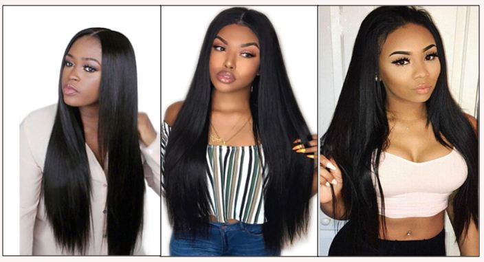 Brazilian Straight Hair Bundles For Sale img