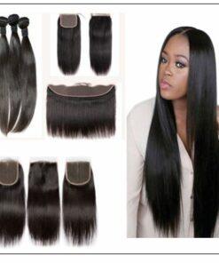 brazilian straight hair bundles with closure img 2