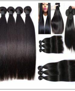 brazilian straight hair bundles with closure img 3
