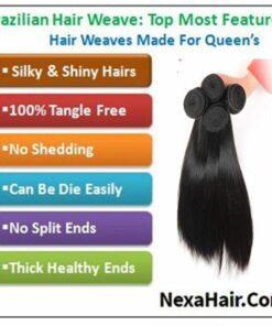 brazilian straight hair bundles with closure img 4