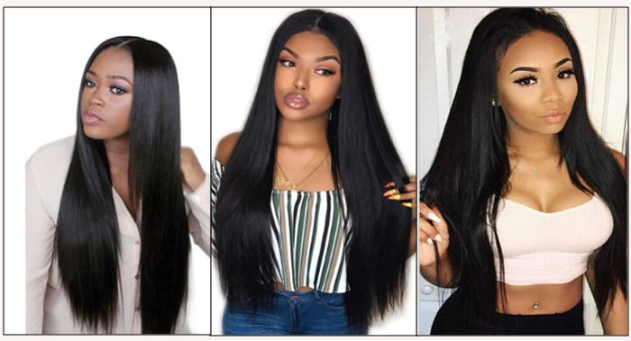 brazilian straight hair bundles with closure img
