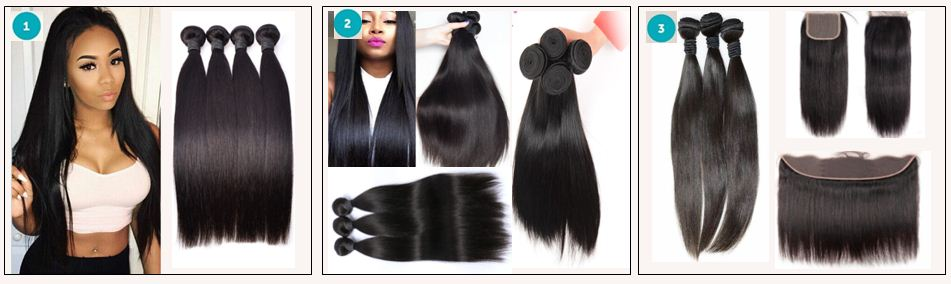 brazilian straight hair bundles with closure
