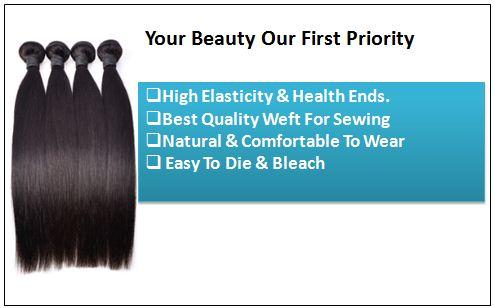 10 inch straight human hair weave 2