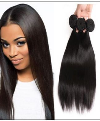 10 inch straight human hair weave img 1