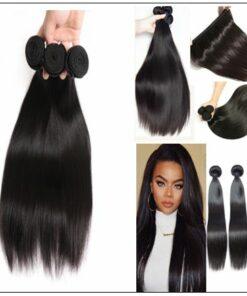 10 inch straight human hair weave img 2
