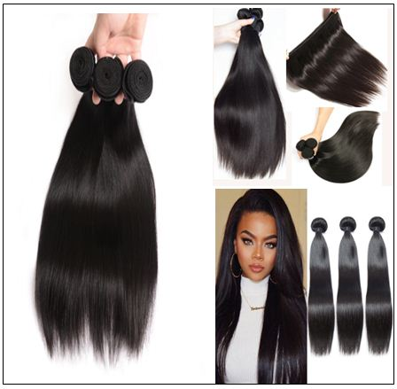 10 inch straight human hair weave img 2