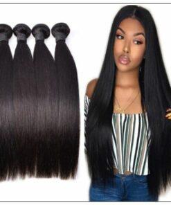 10 inch straight human hair weave img 3