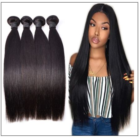 10 inch straight human hair weave img 3