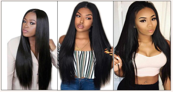 10 inch straight human hair weave img