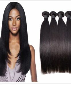 12 inch straight human hair weave img 1