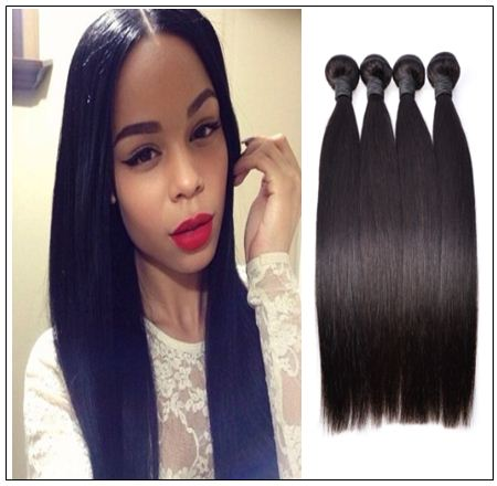 12 inch straight human hair weave img 1