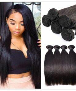 12 inch straight human hair weave img 3