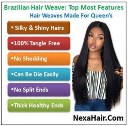 12 inch straight human hair weave img 4