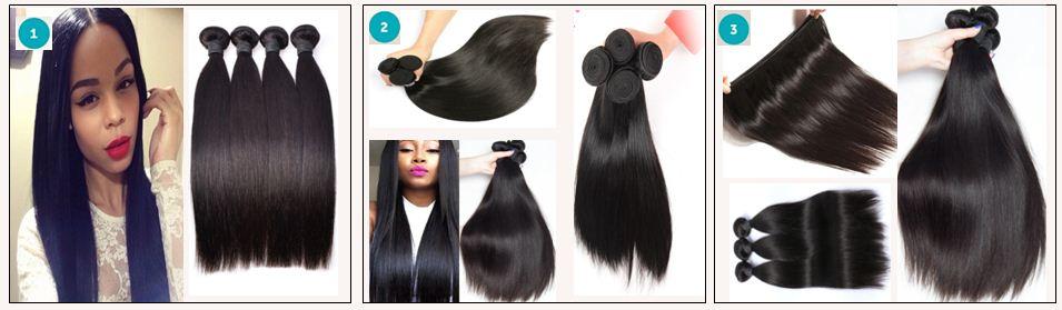 12 inch straight human hair weave