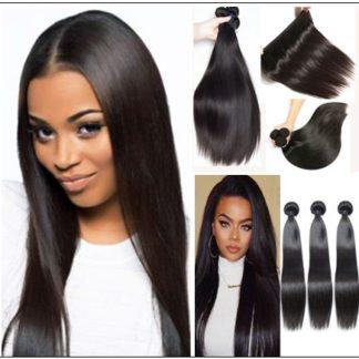 18 inch human hair straight weave img 1
