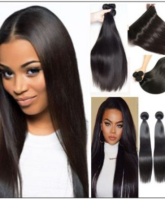 18 inch human hair straight weave img 1