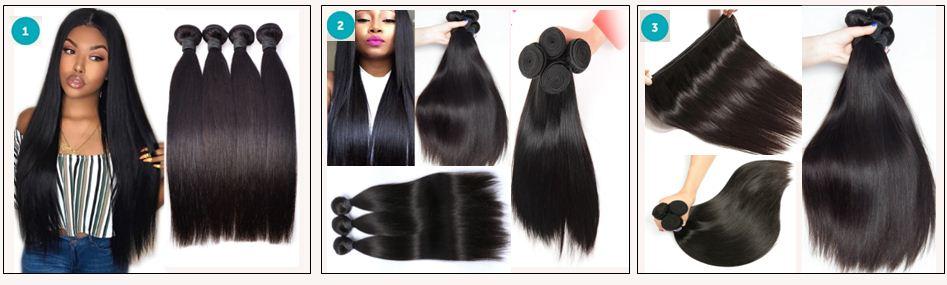 18 inch human hair straight weave
