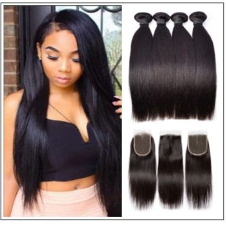 Straight Hair Weave With Closure img 1