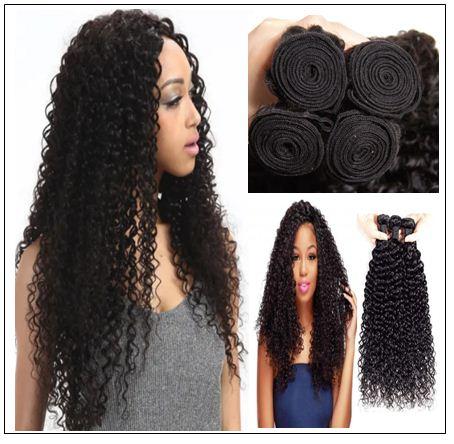 1 Bundle Virgin Curly Hair Weave Unprocessed Human Hair img 1