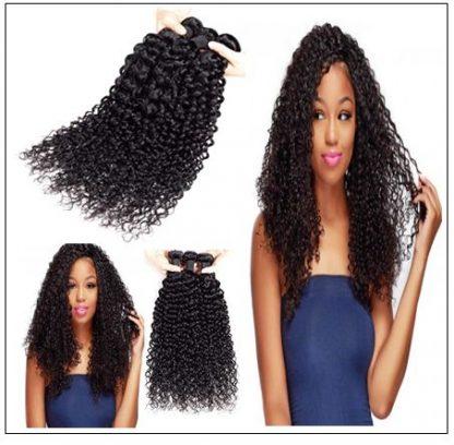 1 Bundle Virgin Curly Hair Weave Unprocessed Human Hair img 2