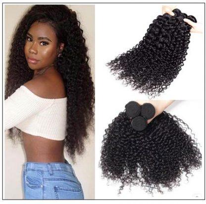 1 Bundle Virgin Curly Hair Weave Unprocessed Human Hair img 3