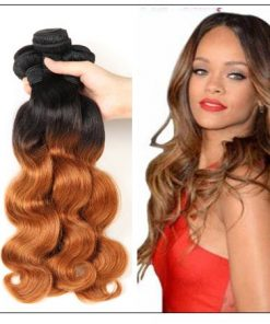 3 Bundle Ombre Indian Virgin Body Wave Hair Weave img