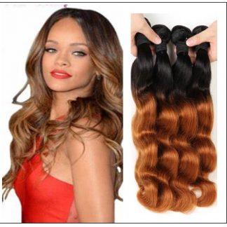3 Bundle Ombre Indian Virgin Body Wave Hair Weave img 4