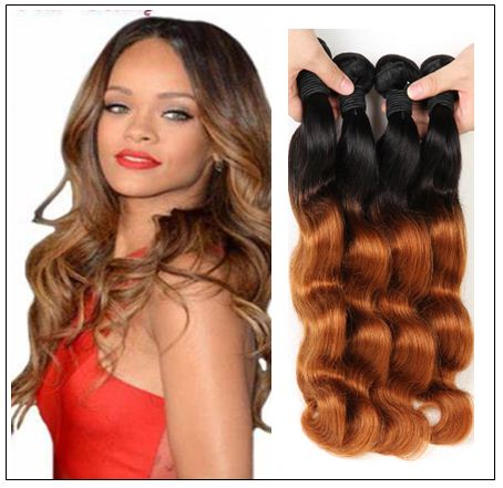 3 Bundle Ombre Indian Virgin Body Wave Hair Weave img 4