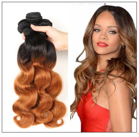3 Bundle Ombre Indian Virgin Body Wave Hair Weave img