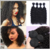 3 Bundles Brazilian Jerry Curly Hair Unprocessed Virgin Hair Weave img