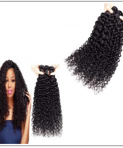 3 Bundles Brazilian Jerry Curly Hair Unprocessed Virgin Hair Weave img 2