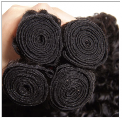 3 Bundles Brazilian Jerry Curly Hair Unprocessed Virgin Hair Weave img 3 - Copy