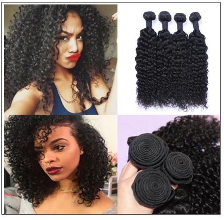 3 Bundles Brazilian Jerry Curly Hair Unprocessed Virgin Hair Weave img