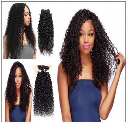 3 Bundles Brazilian Jerry Curly Hair Weave Remy Human Hair img 2