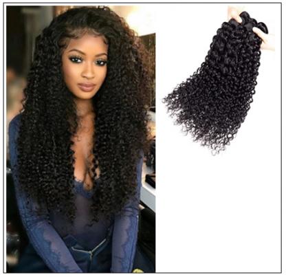 3 Bundles Brazilian Jerry Curly Hair Weave Remy Human Hair img