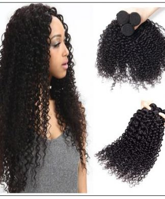 3 Bundles Indian Jerry Curly Virgin Human Hair Weave img 1