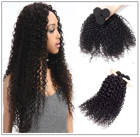 3 Bundles Indian Jerry Curly Virgin Human Hair Weave img 1