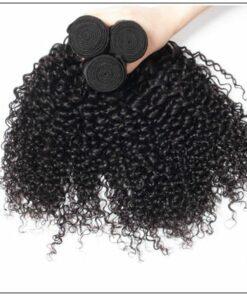 3 Bundles Indian Jerry Curly Virgin Human Hair Weave img 2