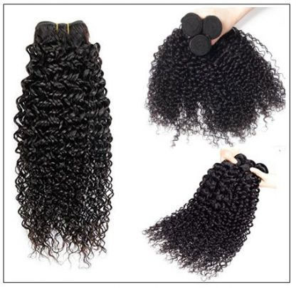 3 Bundles Indian Jerry Curly Virgin Human Hair Weave img