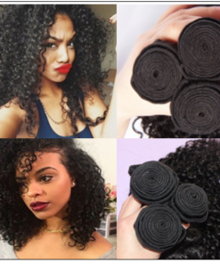 3 Bundles Natural Color Malaysian Jerry Curly Virgin Hair img 1